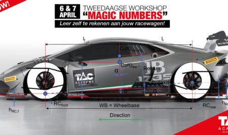 """Nieuwe workshop! """"""""MAGIC NUMBERS"""" voor Racewagens"""""""